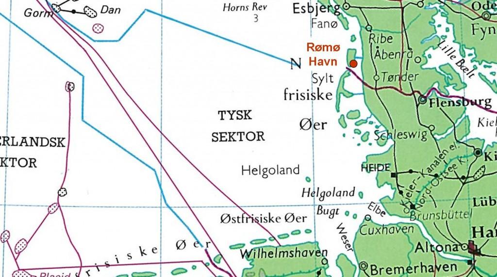 Søkort Rømø Havn