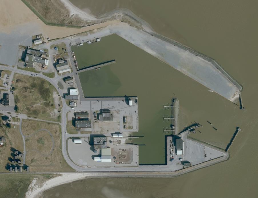 Luftfoto over Rømø Havn